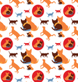 seamless lovely cats pattern vector image
