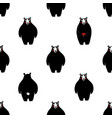 seamless pattern with black bears vector image