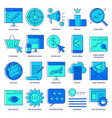 seo icon set in colored line style vector image vector image