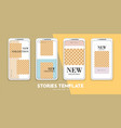 set minimalistic stories for internet pack for vector image
