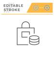 shopping editable stroke line icon vector image