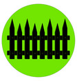 silhouette of a garden fence vector image vector image