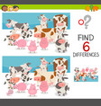 spot the differences with animals vector image vector image