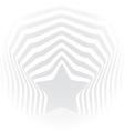 Star grey stripes optical visual art effect vector image