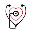 symbol medical stethoscope vector image vector image