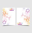 templates for brochure magazine leaflet vector image vector image