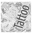 The History Of Tattoos Word Cloud Concept