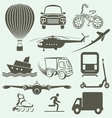 transport icons2 resize vector image vector image