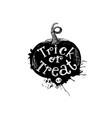 trick or treat pumpkin art concept vector image vector image