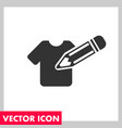 tshirt edit icon vector image