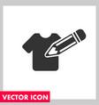tshirt edit icon vector image