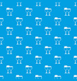 two glasses of wine pattern seamless blue vector image vector image