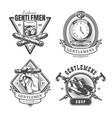 vintage monochrome gentleman prints set vector image vector image