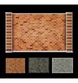 Wall of bricks vector image