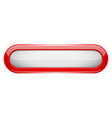 white menu button with red frame oval glass 3d vector image vector image