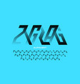 zigzag style modern font vector image vector image