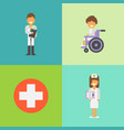 the hospital concept doctor and nurse vector image