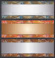 The Metallic Banner Abstract Template vector image