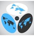 Isometric world map vector image