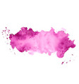 abstract purple watercolor stain texture vector image vector image
