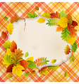 autumn vintage greeting card vector image vector image