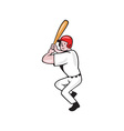 Baseball Player Batting Side Isolated Cartoon vector image vector image