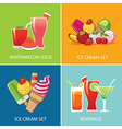 beverage and ice cream for summer vector image vector image