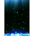 Blue dark bokeh abstract light background vector image vector image