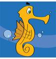 cartoon sea horse vector image vector image