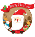 Christmas Circle Banner And Decoration vector image vector image
