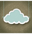 cloud as retro sign vector image vector image