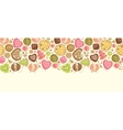 Colorful cookies horizontal seamless pattern vector image vector image