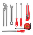 convenient metal tools for repairement and vector image
