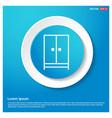 cupboard wardrobe icon abstract blue web sticker vector image vector image