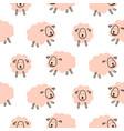 cute sheeps girlish baby seamless pattern vector image