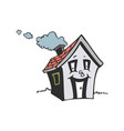 cute smile house cartoon vector image