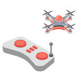 drone with remote controller buttons on joystick vector image
