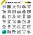 Education Learning pixel perfect outline icons vector image vector image