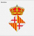 emblem of barcelona city of spain vector image vector image