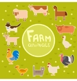 farm animals in green field vector image