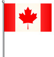 flag of canada realistic high detailed vector image