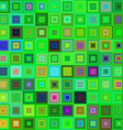Green color square mosaic background vector image vector image