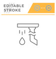gutter line icon vector image vector image