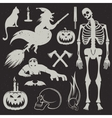 Halloween Icons and Badges set vector image vector image