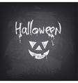 Halloween text design on chalkboard vector image