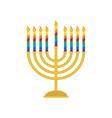 hanukkah menorah candelabrum for jewish holiday vector image vector image