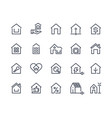 home line icons house interface button browser vector image vector image