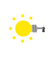 icon concept of glowing light bulb key inside vector image vector image