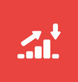 icon concept of sales bar graph moving up and vector image vector image