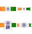 india independence day greeting labels set vector image vector image